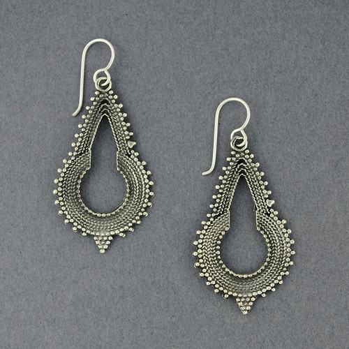 Sterling Silver Balinese Inspired Earrings