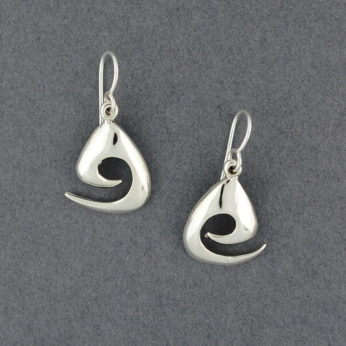 Sterling Silver Triangle Spiral Earrings