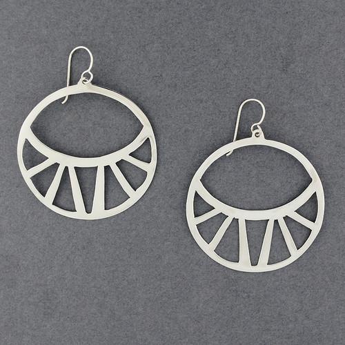 Sterling Silver Jumbo Cutout Circle Earrings