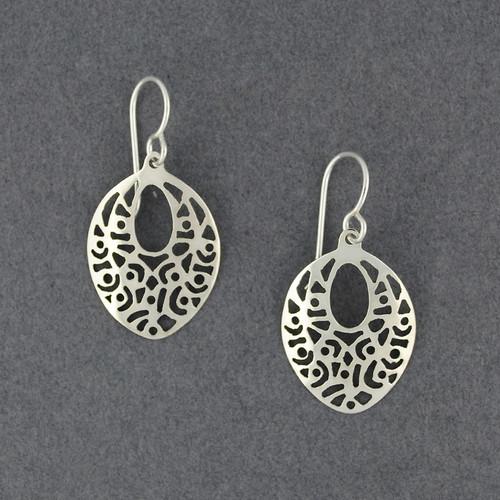 Sterling Silver Cutout Drop Earrings