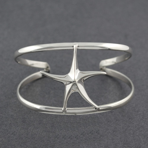 Sterling Silver Starfish Cuff
