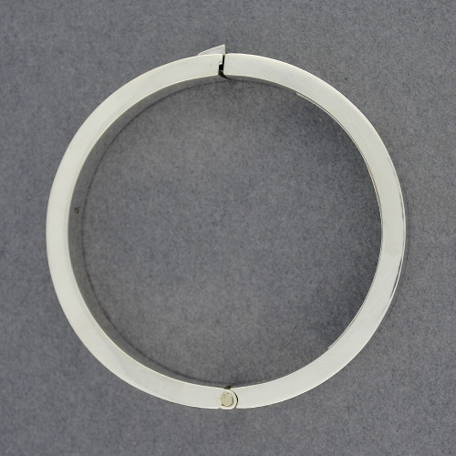 Sterling Silver Thick Locking Bangle