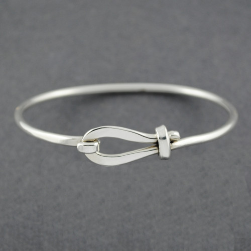 Sterling Silver Loop and Hook Bangle