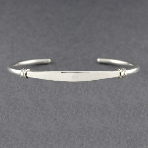Sterling Silver Thin Wrapped Cuff
