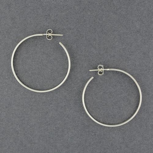 Sterling Silver Medium Rounded Hoop