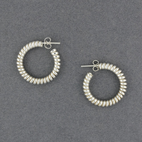Sterling Silver Thick Twisted Hoop