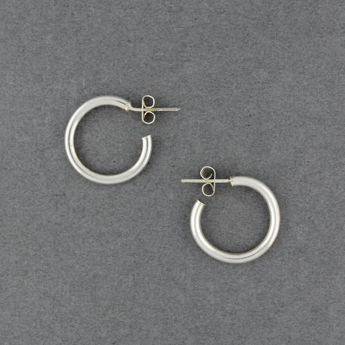 Sterling Silver Small Round Hoop