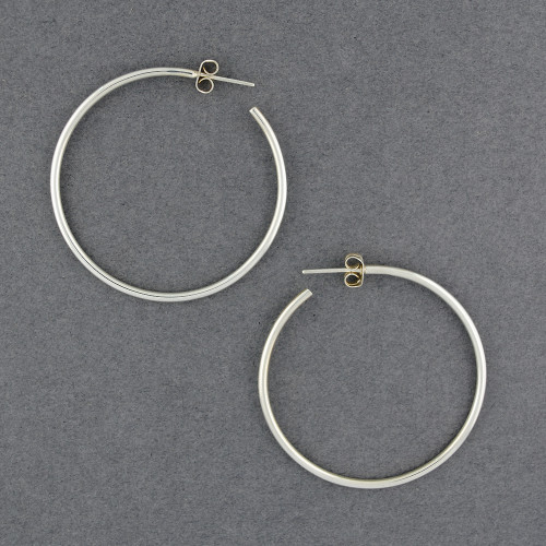 Sterling Silver Classic Round Hoop