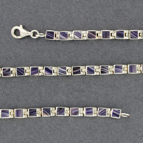 Wampum Small Square Hinge Bracelet