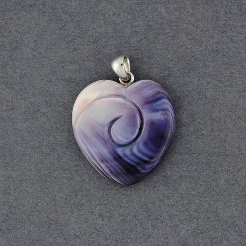 Wampum Heart Swirl Pendant