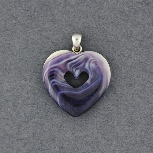 Wampum Heart in Heart Pendant