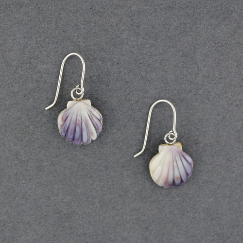 Wampum Scallop Earrings