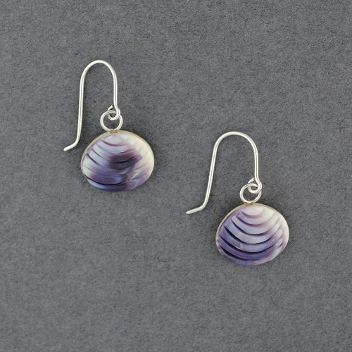 Wampum Quahaug Earrings