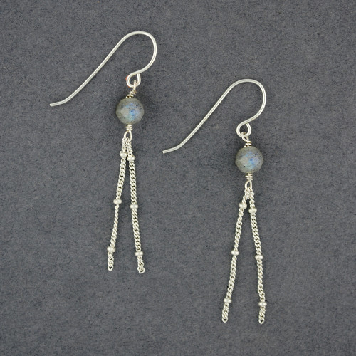 Labradorite with Chain Earrings