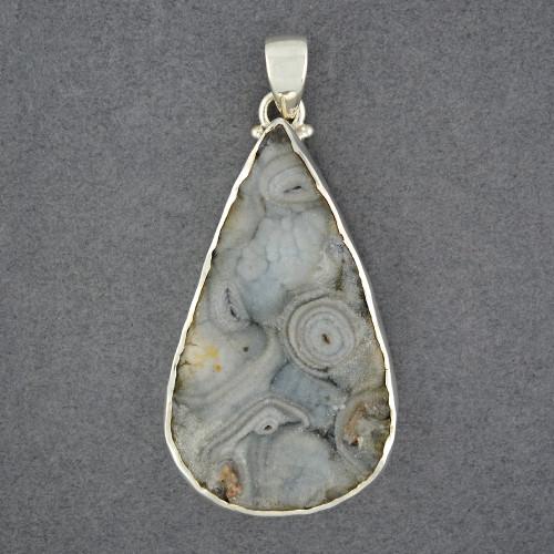 Sterling Silver Desert Druzy Large Teardrop Pendant
