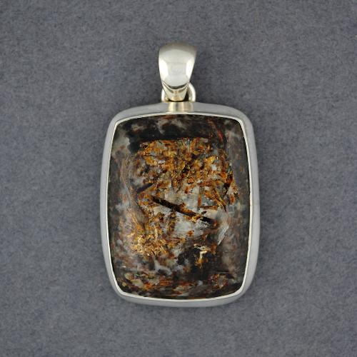 Sterling Silver Astrophyllite Pendant