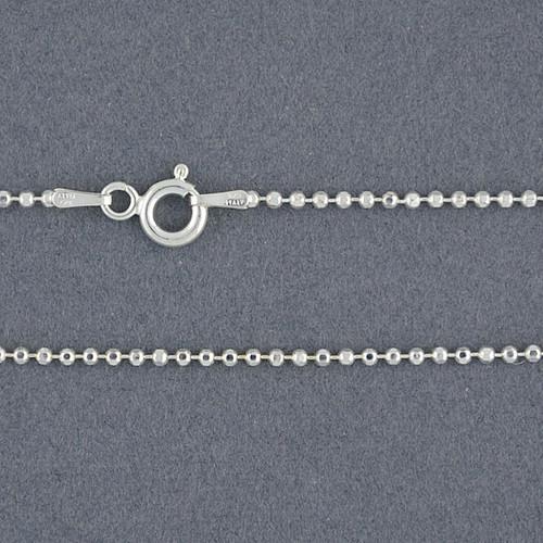 Sterling Silver Diamond Cut Bead Chain