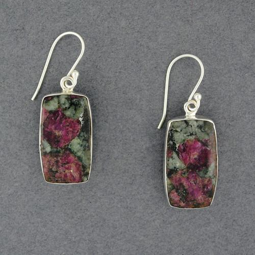 Sterling Silver Eudialyte Earrings
