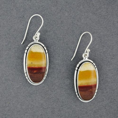 Sterling Silver Mookaite Oval Earrings