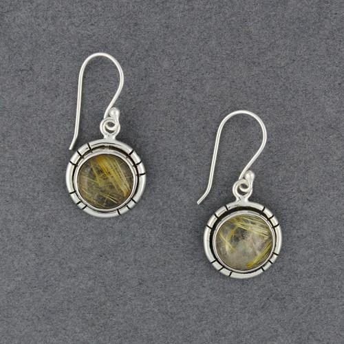 Sterling Silver Rutilated Quartz Earrings