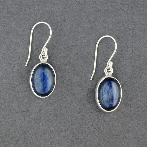 Sterling Silver Kyanite Oval Earrings