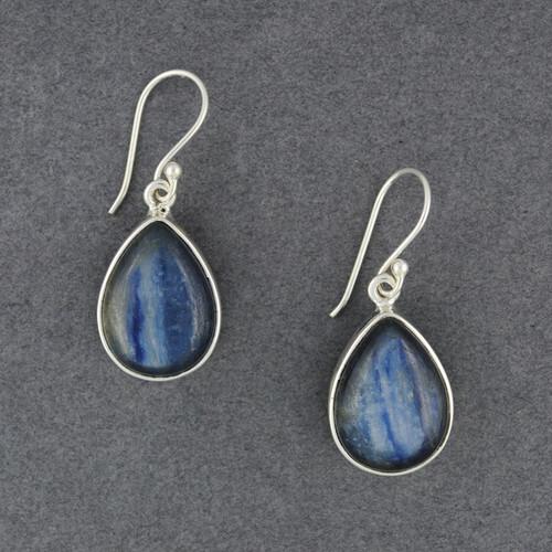 Sterling Silver Kyanite Teardrop Earrings
