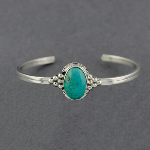 Sterling Silver Turquoise with Accents Cuff