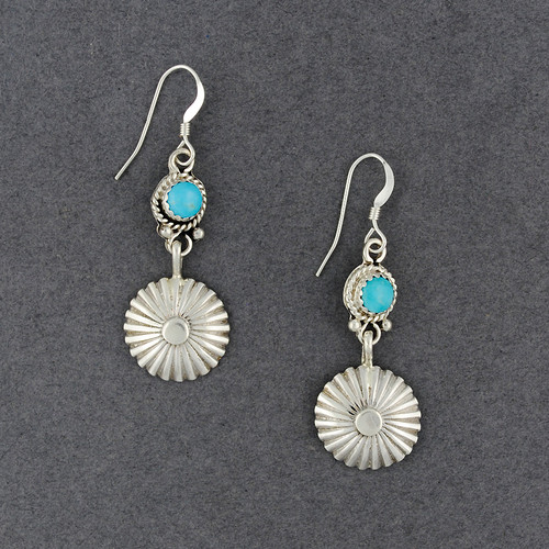 Sterling Silver Turquoise Star Earrings