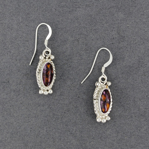 Sterling Silver Small Spiny Oyster Oval Earrings