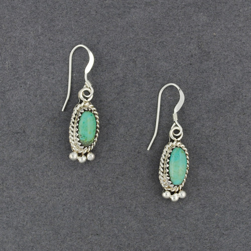 Sterling Silver Small Turquoise Oval Earrings
