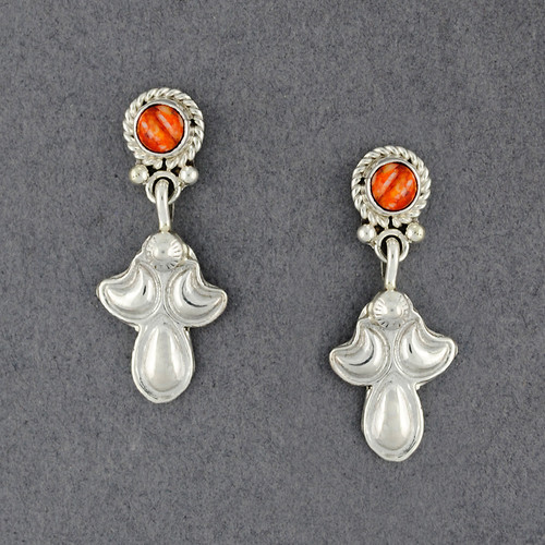 Sterling Silver Spiny Oyster Post with Dangle Earrings