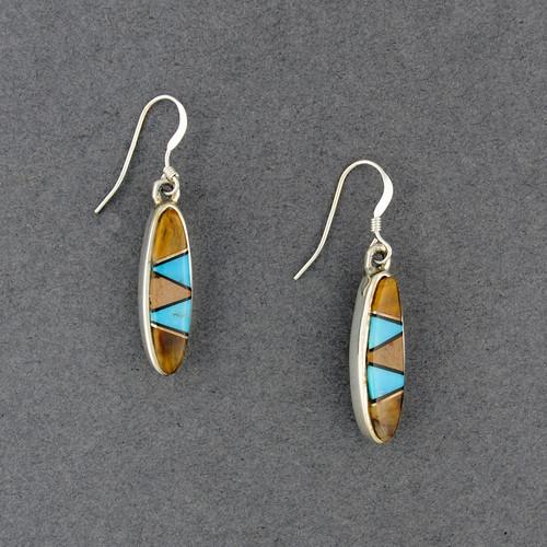 Sterling Silver Black Mesa Sky Oval Earrings