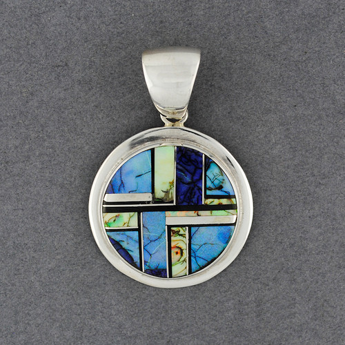 Sterling Silver Spider Web Opal Pendant