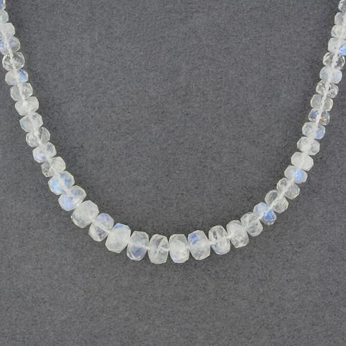 Rainbow Moonstone Beaded Necklace