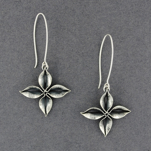 Folded Flower Earrings