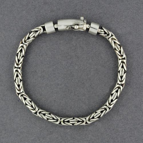 Sterling Silver 5mm Borobudur Bracelet