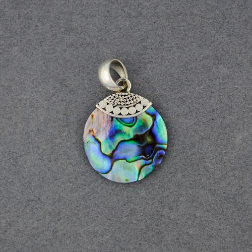 Abalone Small Multi Dot Circle Pendant