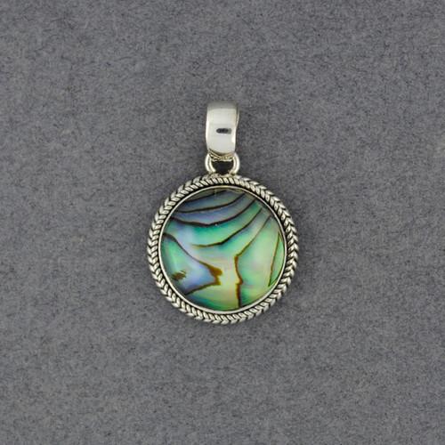 Abalone Twisted Bezel Pendant