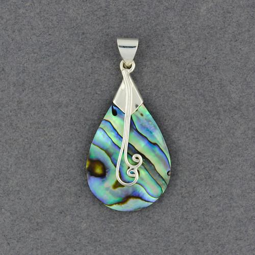 Abalone Teardrop Swirl Pendant