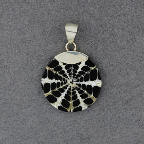 Black & White Mosaic Shell Pendant
