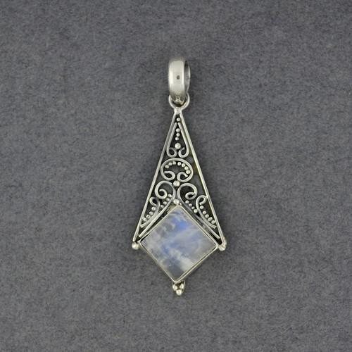 Moonstone Detailed Drop Pendant