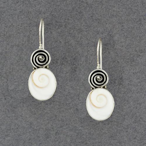 Shiva's Eye Spiral Earrings