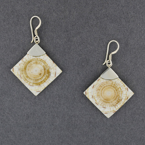 Cone Shell Diamond Earrings