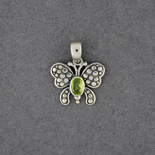 Peridot Small Butterfly Pendant