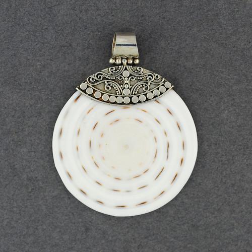Cone Shell Swirls and Dots Pendant