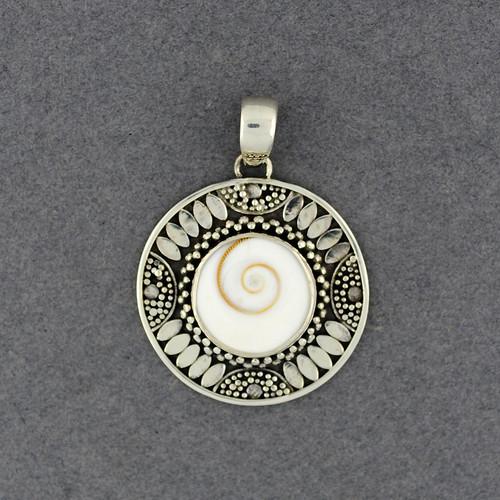 Shiva's Eye Ornate Bezel Pendant