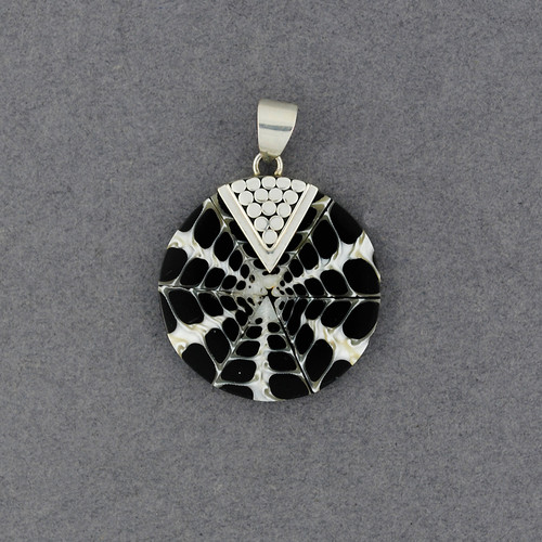 Black and White Mosiac Dotted Pendant