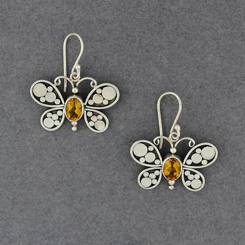 Citrine Butterfly Earrings