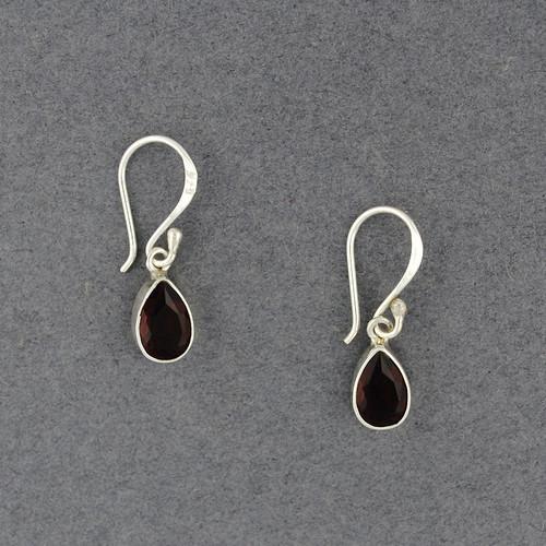 Garnet Small Teardrop Earrings