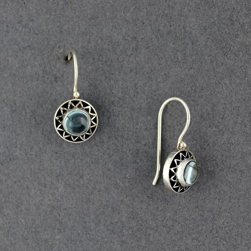 Blue Topaz Sun Earrings